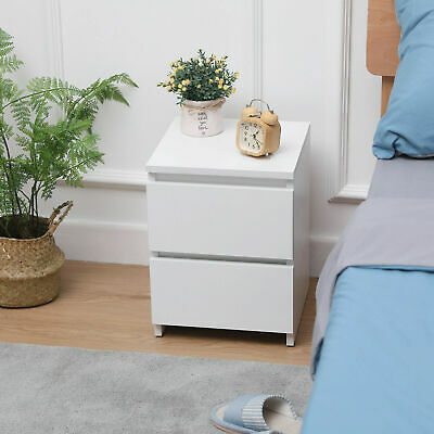 £21.99 • Buy Modern Chest Of Drawers Bedside Table Cabinet Nightstand 2 Drawers Bedroom UK