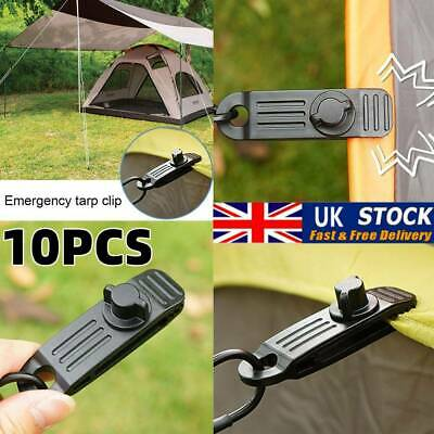 10X Reusable Heavy Duty Linoleum Clip Fixed Plastic Clip Outdoor Tent UK • 7.99£