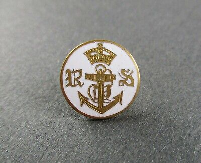 AU8.94 • Buy British: ROYAL YACHT SQUADRON ENAMELLED BRASS BUTTON  (16mm, 1920s-1930s Period)