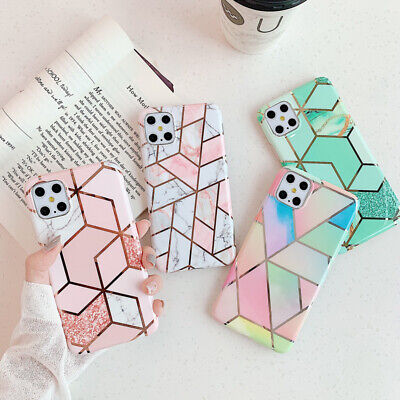 AU6.07 • Buy For IPhone 12 11 XR XS MAX 8 7 6 ShockProof Marble Phone Case Cover Silicone
