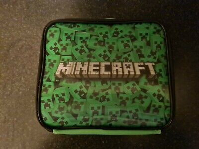 Minecraft Creeper Face Kids/Boys Lunch Box School Food Container Children's Bag • 12.75£