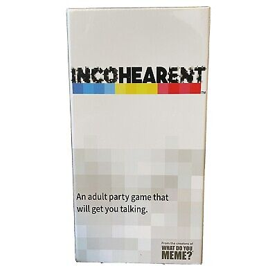 AU20.02 • Buy What Do You Meme? Incoherent Incohearent Adult Party Game Free & Fast Shipping!