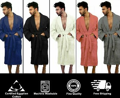 £16.99 • Buy 100% Egyptian Cotton Unisex Bath Robe Terry Towelling Dressing Gown Towel Soft