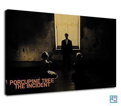 Black & White Porcupine Tree For Boys Bedroom Canvas Print Wall Art Picture • 38.99£