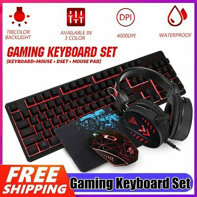 AU46.89 • Buy Gaming Keyboard Mechanical Keyboard And Wired Mouse/Pad Headset 4 IN 1 Set AU