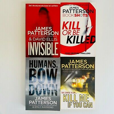 AU40 • Buy 4 X James Patterson Large Paperback Thriller Crime Books Free Post Invisible