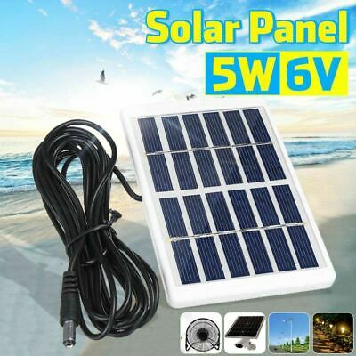 AU19.77 • Buy Portable 5W 6V Outdoor Solar Charger Panel, 3 Meter Cable
