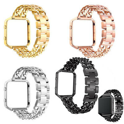 $ CDN7.60 • Buy Replacement Link Bracelet Band Strap Stainless Steel Metal Frame Fr Fitbit Blaze
