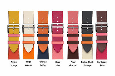 $ CDN15.13 • Buy Leather Watch Band Herme Belt Single/Double Tour For Apple Watch Series 654321SE