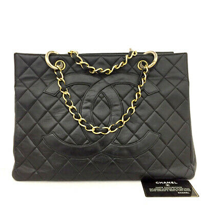 AU495.86 • Buy CHANEL Quilted Matelasse Lambskin CC Logo Tote Hand Bag /70925