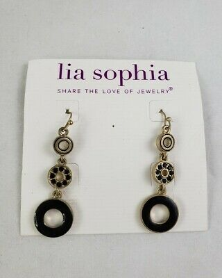 $ CDN10.09 • Buy Lia Sophia Dapple Enamel Dangle Earrings