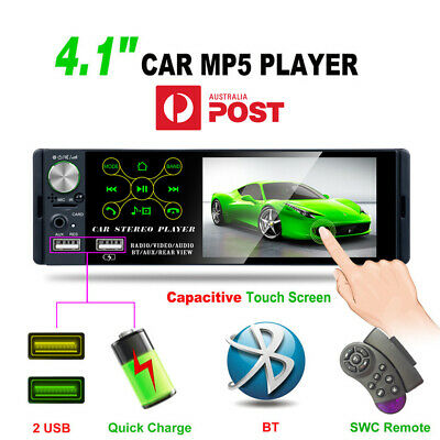 AU87.91 • Buy 4.1  1 Din Touch Screen Car Radio Stereo AM FM MP5 Player Bluetooth Universal