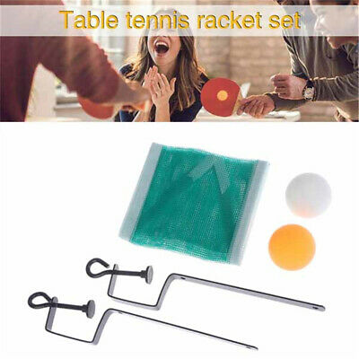 AU12.92 • Buy Table Tennis Chinese Ping Pong Suit 2 Balls +Net With Bracket Poles Sports Toys