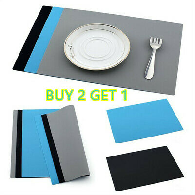 £4.49 • Buy Silicone Table Mat Heat Resistant Waterproof Non-Slip Desk Pad Placemat UK Store