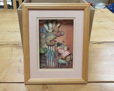 £3.50 • Buy Cute Handmade Decoupage Framed Picture - Excellent Condition