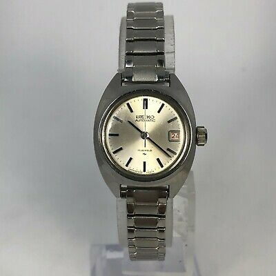 $ CDN63.37 • Buy Vintage Seiko Womens 5D5673 Silver Stainless Steel Bracelet Automatic Watch