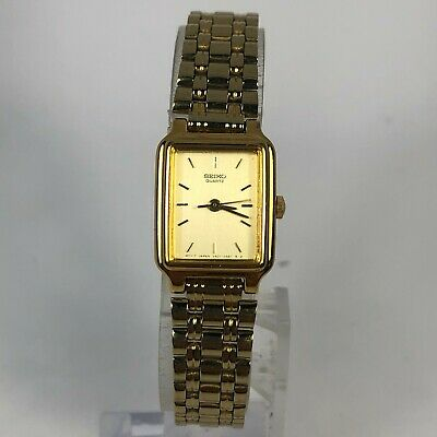 $ CDN63.37 • Buy Seiko Womens V401-5129 Gold Tone Stainless Steel Quartz Analog Bracelet Watch