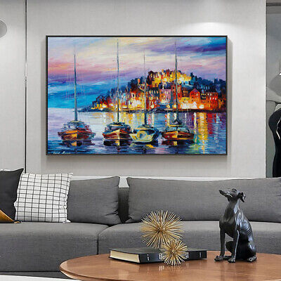Leonid Afremo Painting Sailboat On The Sea Canvas Wall Art Picture Print • 8.99£