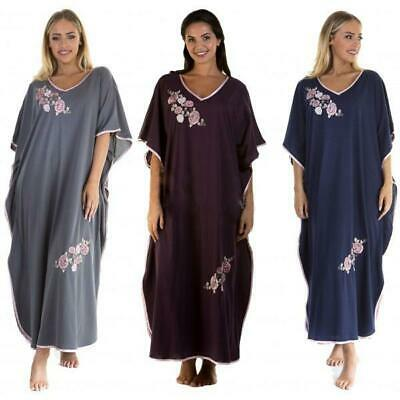 Kaftan Ladies Womens Embroidered Cotton Blend By La Marquise One Size 12 - 24 • 13.99£