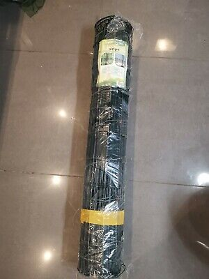 Simpa 10m X 1m Roll Green PVC Metal Galvanised Wire Mesh Fence Garden Chicken • 15£