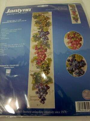 Janlynn GRAPES BELL PULL Counted Cross Stitch Kit Nancy Rossi 5  X 22  • 14.46£
