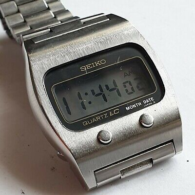 $ CDN2.10 • Buy Rare Stainless Steel GENTS SEIKO Quartz Digital Chronograph,0439-5009,working