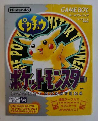 $108.63 • Buy Pokemon Yellow - Japan Import - Complete In Box - GameBoy - Free Tracked Postage