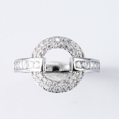 AU1.96 • Buy For Women 925 Silver Rings Cubic Zircon Wedding Engagement Jewelry Gifts Size 6