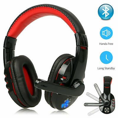AU31.29 • Buy Bluetooth Wireless Gaming Headset Mic LED Headphones For PC Xbox One PS4 AU