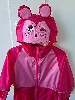 Regatta Girls 2-3 Years Waterproof Puddlesuit Pink  Rain Suit Mouse All In One • 18£