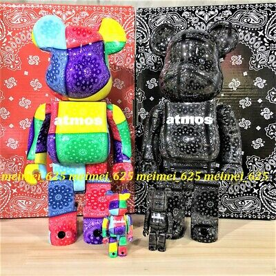 $538.88 • Buy Bearbrick Medicom 2021 Atmos Bandana Color & Black Ver. 100% 400% Be@rbrick