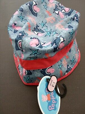Peppa Pig Seaside Theme Summer Bucket Sun Hat Totally Jaw-some Age 1 - 3 Years • 4.95£