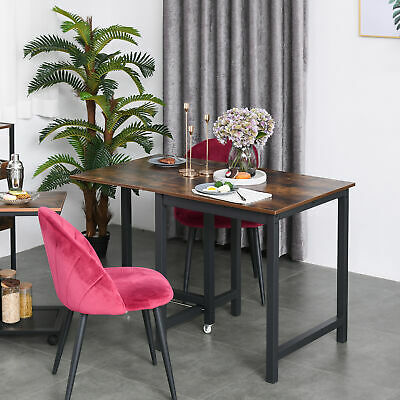 £79.99 • Buy Drop Leaf Kitchen Folding Table Foldable Desk For Dining, Working & Writing