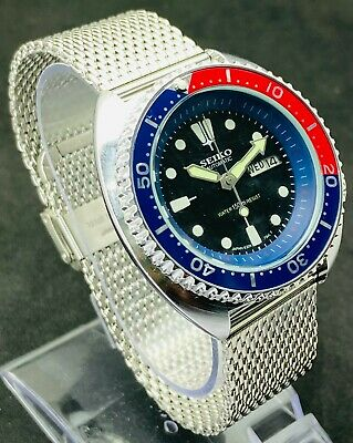 $ CDN126.06 • Buy Men's Vintage Seiko Diver's 6309 Automatic 17J  Rotating Bezel  Steel Band Watch