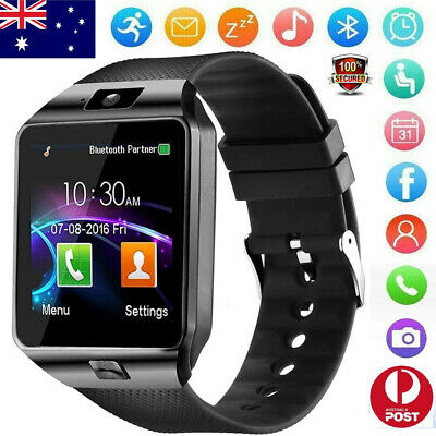 AU19.94 • Buy Sports Smart Watch Bluetooth Call Wrist Phone Camera For Android Samsung IPhone