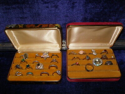 $ CDN31.72 • Buy Vintage Jewelry Lot 28 Rings Michael Kors Avon Saxon Jewelry 2 MELE Ring Boxes