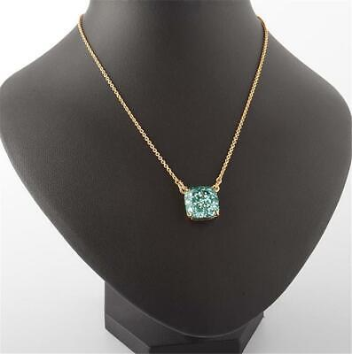 $ CDN35.22 • Buy Kate Spade New York Cause A Stir Turquoise Glitter Square Pendant Necklace