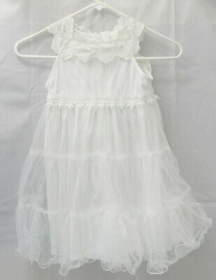 £13.65 • Buy Girls Size 6 White Lace Dress Easter Pagent Weddings Etc -M4