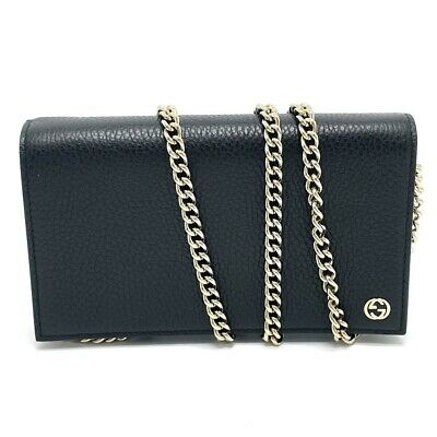 AU698 • Buy UNUSED GUCCI 466506 Crossbody Chain Wallet 2way Clutch Bag Shoulder Bag
