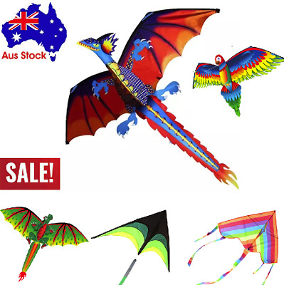 AU8.12 • Buy Fun Toys For Kids Play - 3D Dragon With Tail Kite Large Line Outdoor Flying