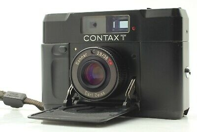 $ CDN799.86 • Buy [NEAR MINT W/ Strap] CONTAX T BLACK Rangefinder 35mm Film Camera Body From JAPAN