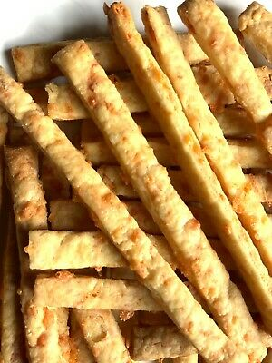 """£10.50 • Buy Homemade Cheese Straws - Mature Cheddar Cheese With Mustard (20 Straws 8"""" Long)"""