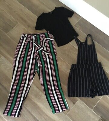 Girls River Island Trousers Newlook Dungarees & Black Top Age 11-12 13years • 3.50£