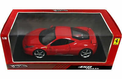 Minicar 1/18 Ferrari 458 Ltalia Red Hot Wheels T6917 • 104.23£