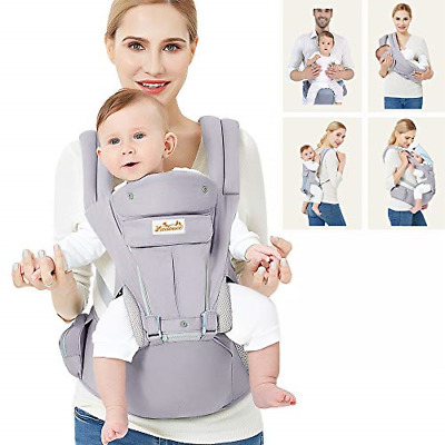 Viedouce Baby Carrier Ergonomic With Hip Seat/Pure Cotton Lightweight And For 3 • 71.04£