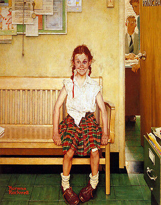 $ CDN22.55 • Buy Norman Rockwell Outside The Principals Office Print 11 X 14   #3885