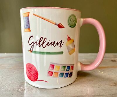 £10 • Buy Personalised Crafter Craftaholic Mug For Her - Gift For Sewing Knitting Painting