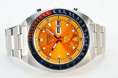 $ CDN1107.55 • Buy  Rare Vintage Seiko 6139-6002 Pogue Day Date Chronograph Automatic Steel Watch
