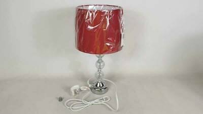 £16.99 • Buy Touch Table Lamp LED Crackle Glass Ball Task Light Red