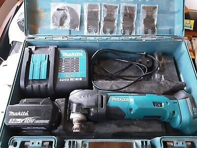 Makita Dtm51 Case Charger And 3ah Battery + 5 New Blades • 80£